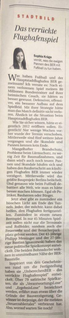 2017-08-25 Flughafenspiel in der Berliner Zeitung